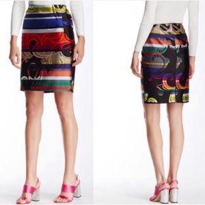 Trina Turk Rainblow Paisley Pencil Skirt